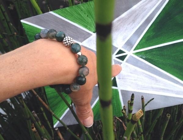 Lagos green Maya bracelet