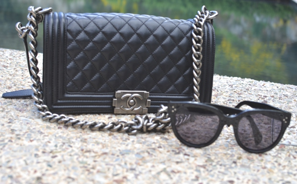 Chanel Bag celine sunglasses