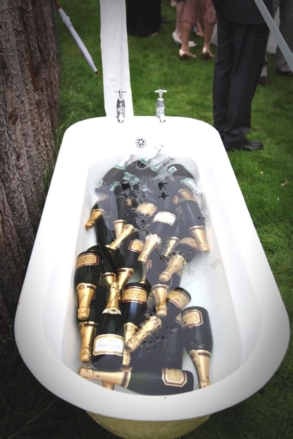bathtub champagne