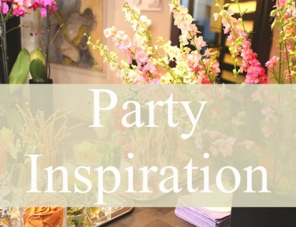 flower decor and snaks in glasses- party inspiration