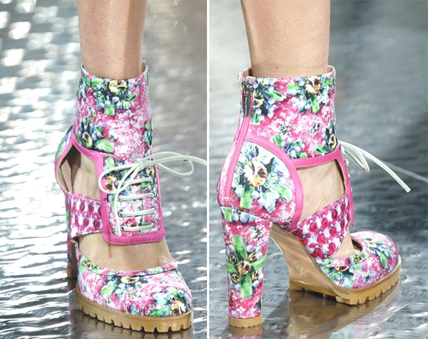 floral boots by Mary katrantzou