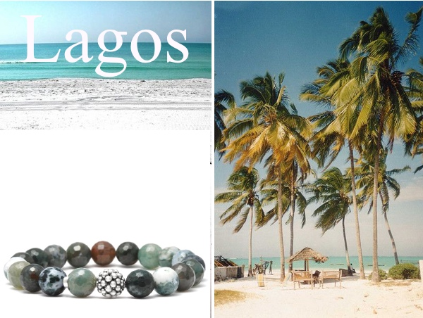 tropics lagos green beaded bracelet