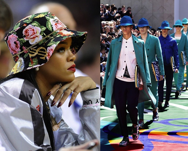 Bucket hats, Rihanna-Burberry 2015