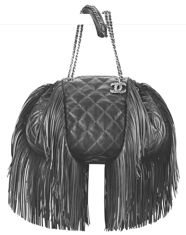 Chanel-Lambskin-Fringe-Drawstring-Bag