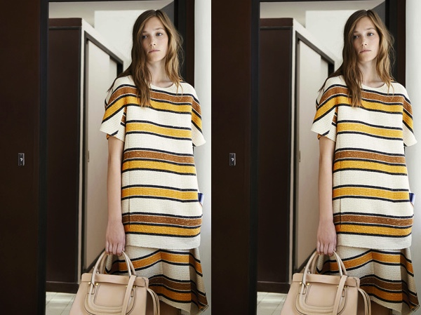 Chloe summer striped neutrals outfit