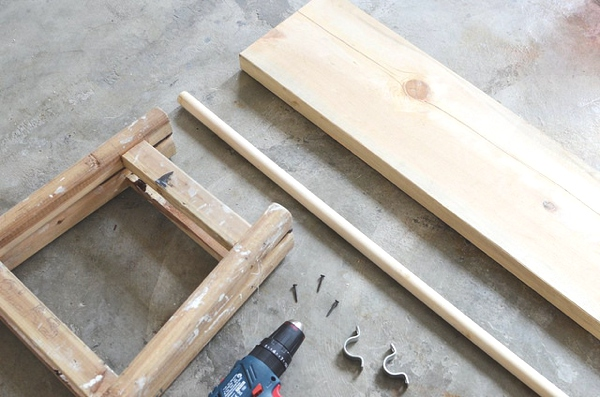DIY ladder Wardrobe instructions