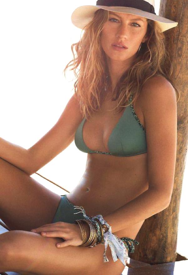 Gizele bikini Panama hat