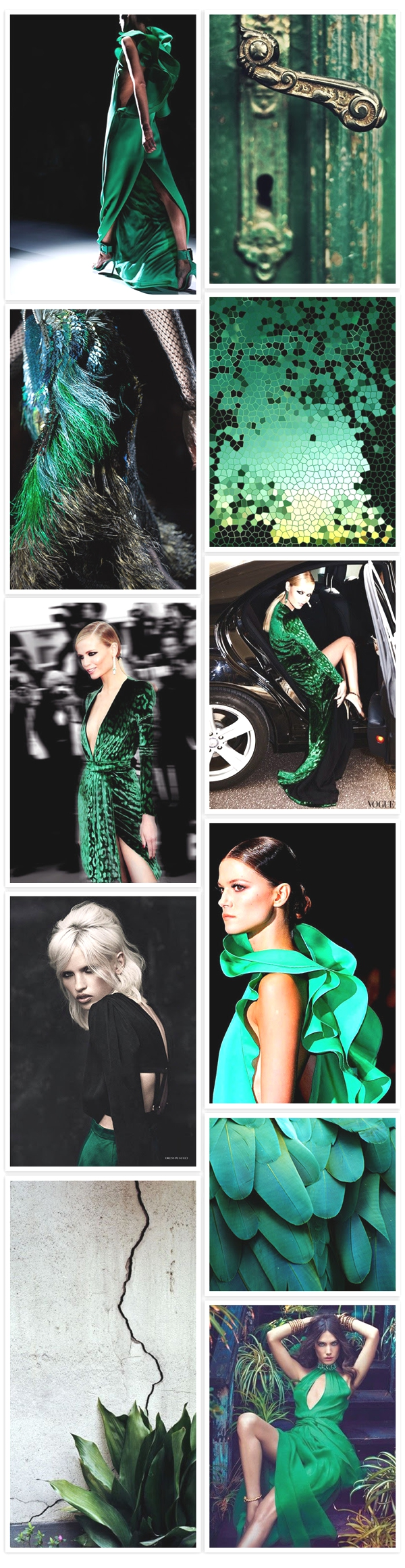 Green fashion Zone collage photos fashion