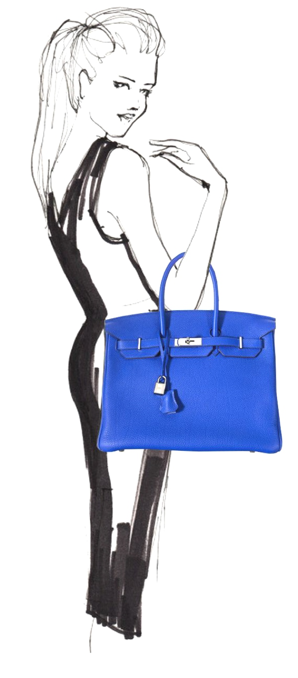 illustration Birkin handbag