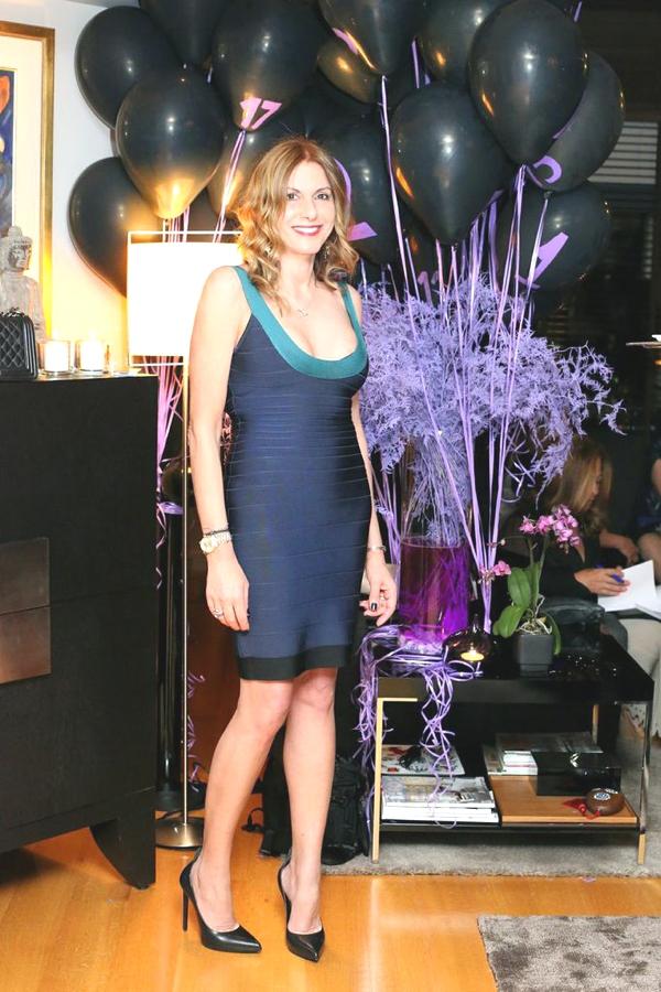 Herve Leger blue party dress