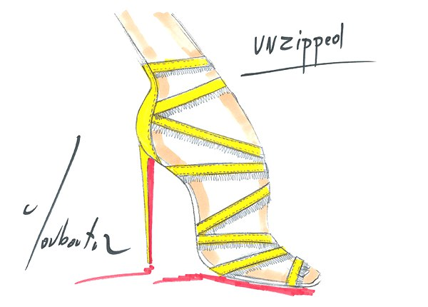 Christian Louboutin drawing