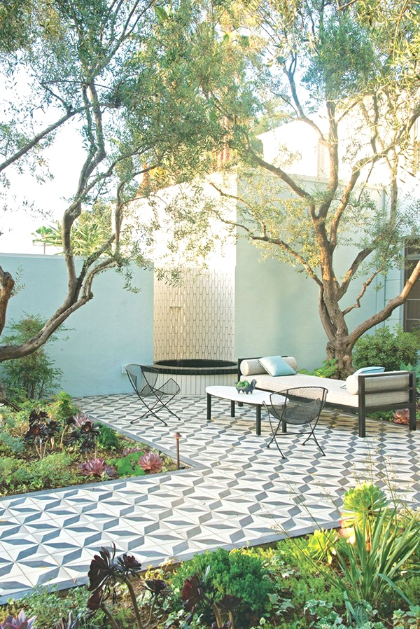 Judy Kameon garden via VOGUE