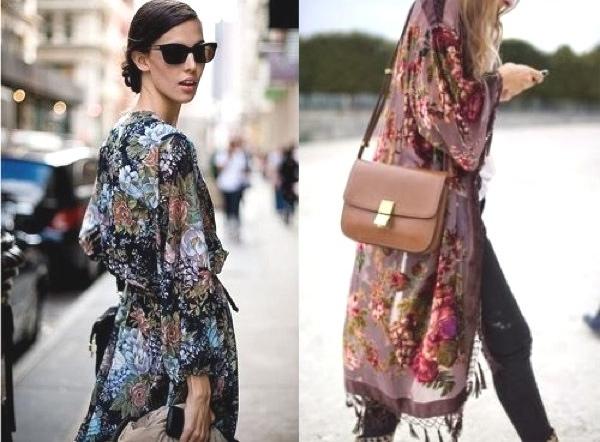 Kimono and skinny jeans