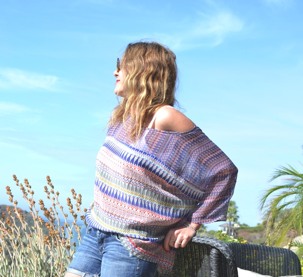 Laidback Summer Style- tribal blouse-beach hair