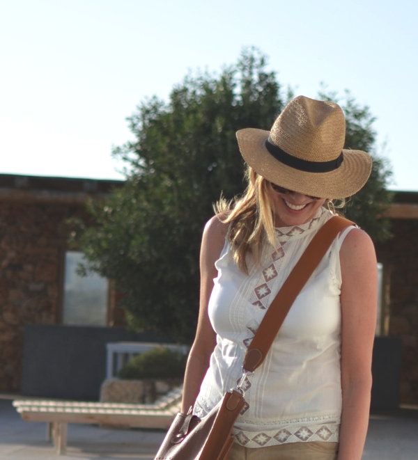 Straw hat , Hermes bag