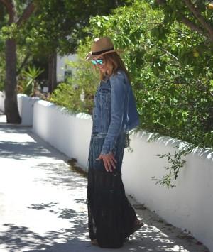Maxi Gyspy05 dress Isabel Marant Edris sandals Bohemian style