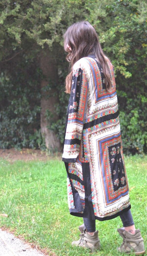 Niki paisley print kimono Missguided