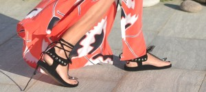 Orange Maxi Shirtdress and Edris Isabel Marant Sandals00