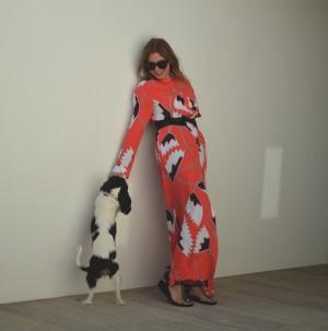Orange Maxi Shirtdress and Edris Isabel Marant Sandals03