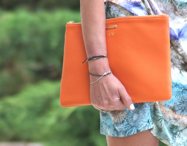 GiGi New York tangerine clutch