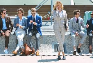 Men's suit for women