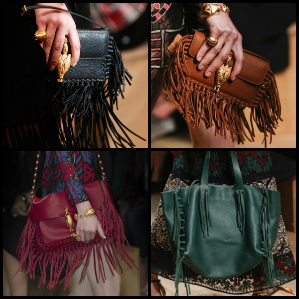 Valentino 2014 fringed bags