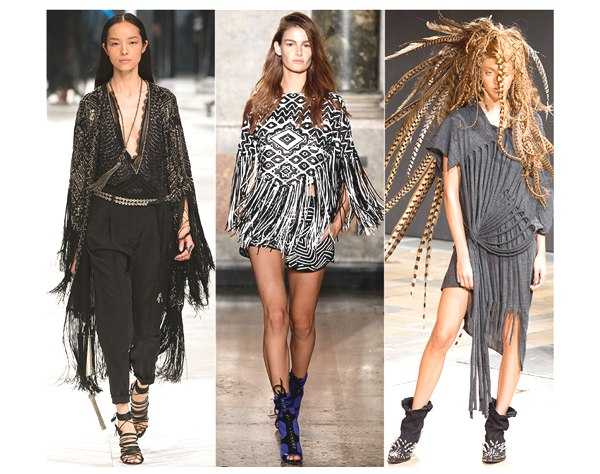 fringes on the catwalk 2014 collage
