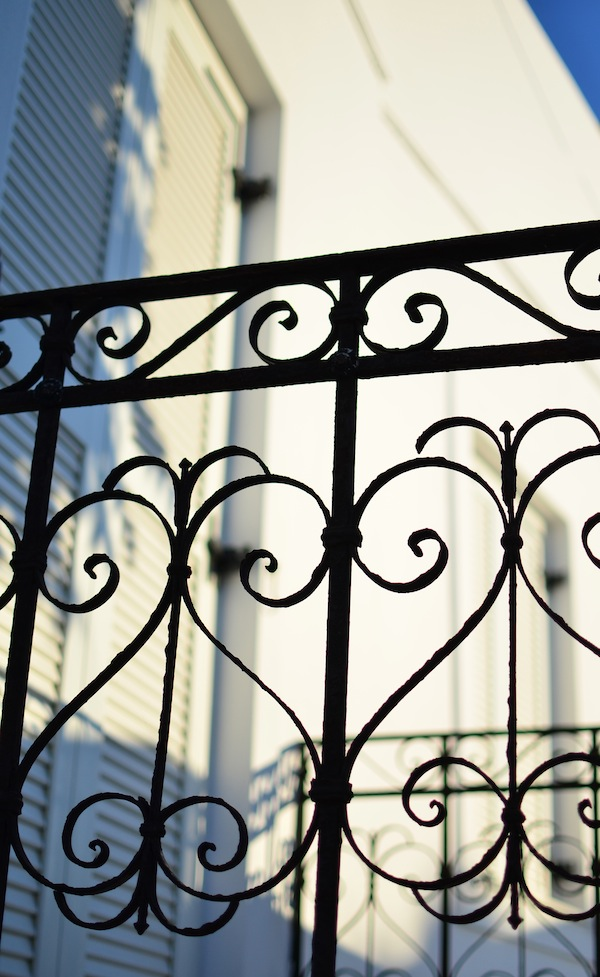 iron balcony Paros