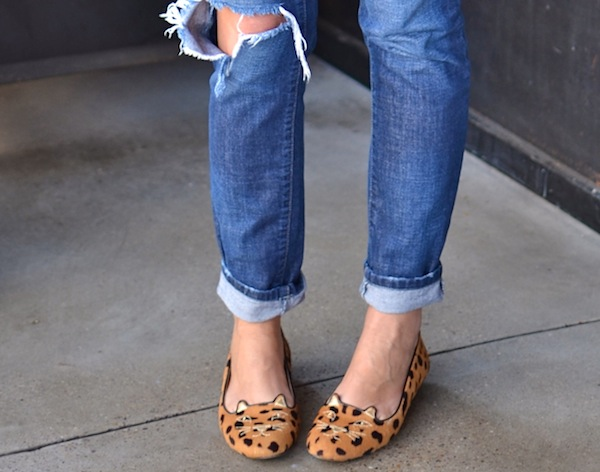 jeans and leopard kitty shoes