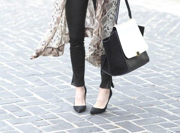 kimono skinny leather pants
