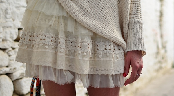 lace and cotton jumper