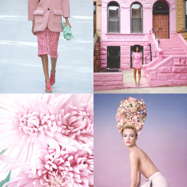 total pink collage