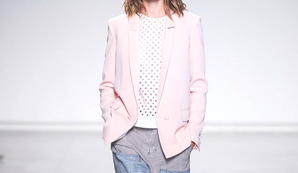 pink tailored jacket