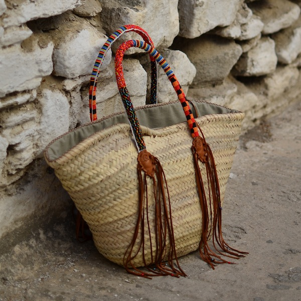 straw bag fringes