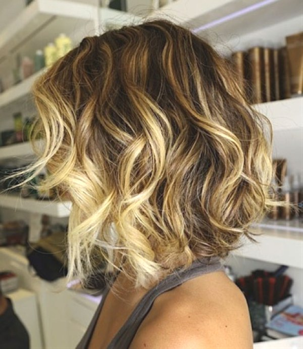 waves bob blonde