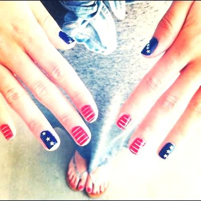 Nail Art American flag