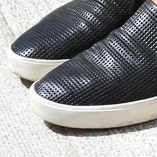 Blair Vince slip-on sneakers close up