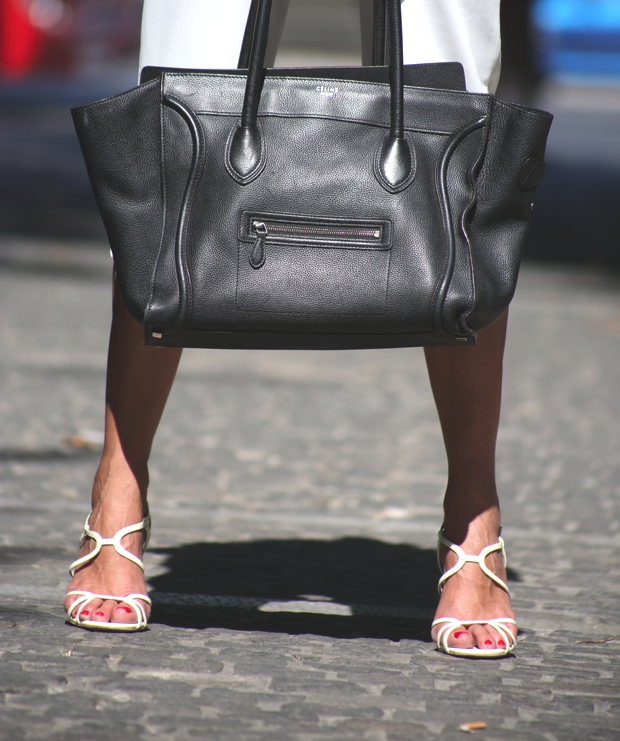 Celine luggage handbag Prada sandals