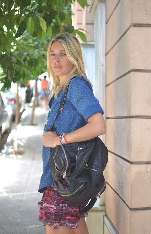 denim shirt ruffle Isabel Marant skirt- Dania Stavraka