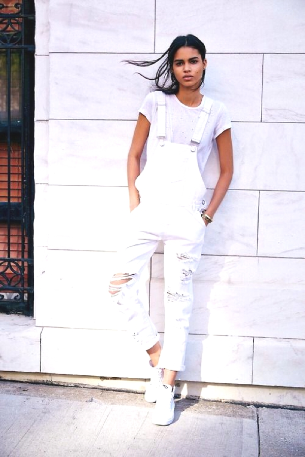 Total Summer Whites white dungaree