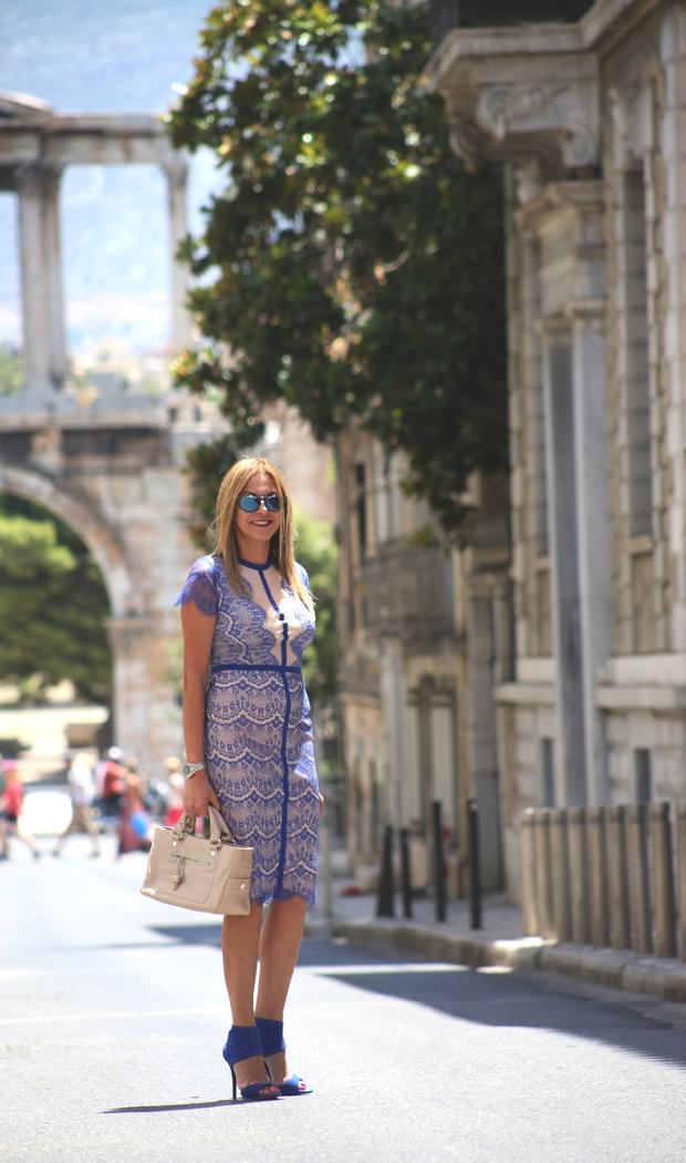 TrendSurvivor Street Style Missguided lace midi dress