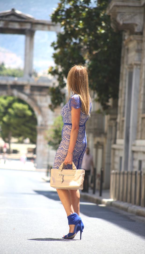 Missguided lace midi dress