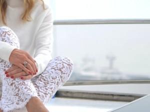 Yacht TrendSurvivor white lace Gucci pants