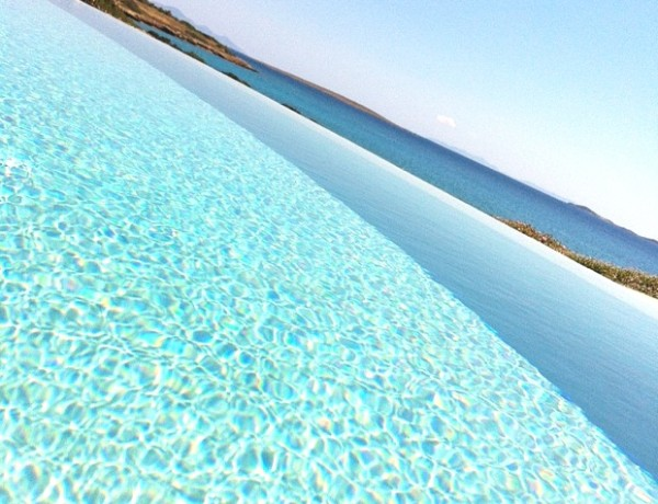 blue pool blue sea blue sky Greece Instagram