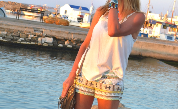 embellished Shorts sea