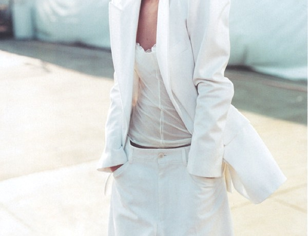 white women's suit