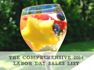 COMPREHENSIVE 2014 LABOR DAY SALES LIST