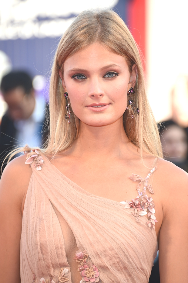 Constance Jablonski wears Chopard to the 71st Venice Film Festival opening