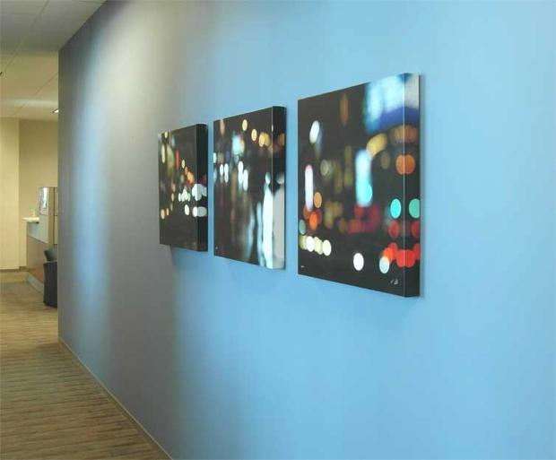 Corridor Blue Wall
