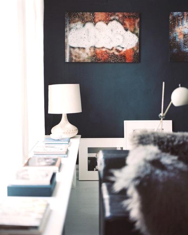 Living Room Blue Wall